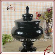 Garrafa de cerâmica preta TGD103-9H