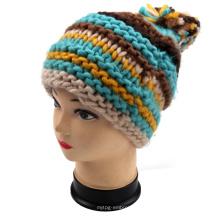 Moda mão malha chapéu padrões
