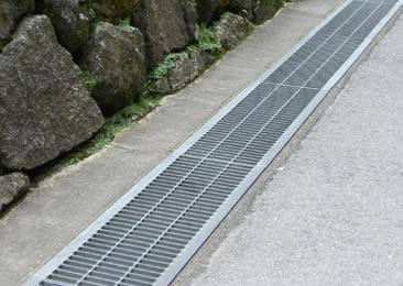 drainage trench grating side angled