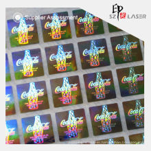 Custom hologram plastic bottle label sticker with serial number printing