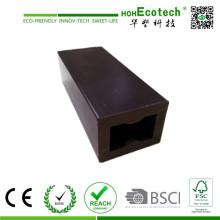 Viga decking compuesta plástica de madera hueco, vigueta al aire libre de WPC, viga de piso compuesta de madera plástica barata