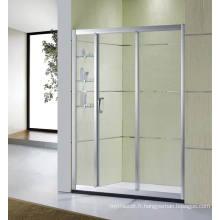 Articles sanitaires Écrans de douche à portes coulissantes en verre trempé en salle de bain (D-22)