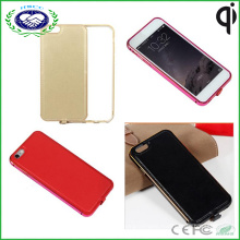 Qi Wireless Charger Receiver Leather Aluminum Case Cover for Apple iPhone 6 4.7""