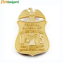 Metallabzeichen mit Kunden 2D Logo