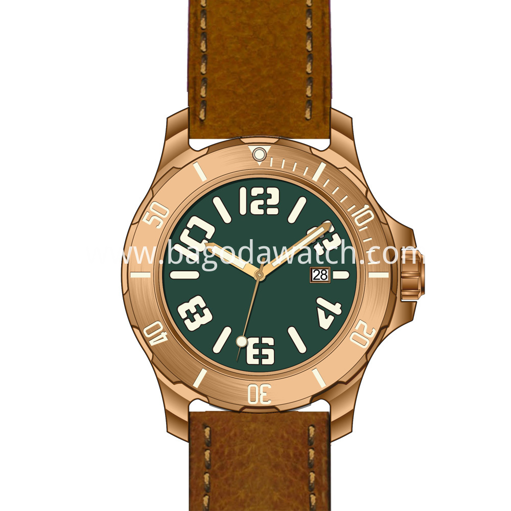 Men Bronze Watch