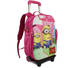3D EVA Trolley school bag
