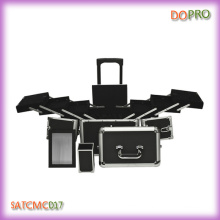 Black ABS Material Professional Makeup Artist Case with Mirror (SATCMC017)