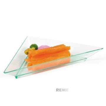 Plastic Dish Disposable Saucer Triangle Dish Food Grade