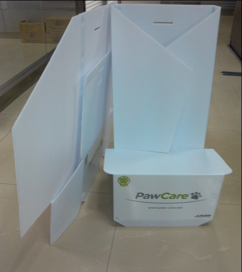 Corrugated Plastic Display Stand