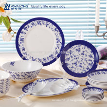 28pcs Venda Por Atacado Blue Pintura Porcelana Fine Bone China Dinnerware Set
