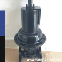 Pneumatic Cast Iron RF Flanged Straight While Diapgragm Valve
