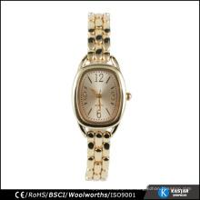 Reloj reloj de pulsera de cuarzo de la moda de las señoras del cuarzo de Japón, reloj de la batería de Japón