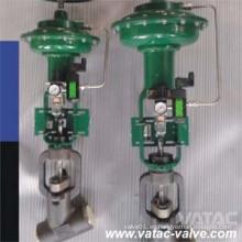Neumático operado tipo Y válvula de globo