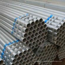 Nouvelle réserve de tuyaux en acier galvanisé ERW