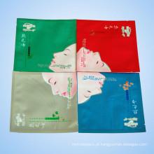 Saco de empacotamento cosmético multicolorido do verniz de Matt plástico para a máscara facial