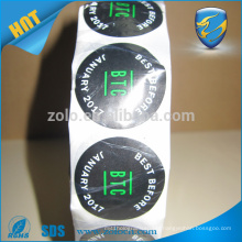 New arrival ultra destructible vinyl labels custom eggshell irremovable sticker with free design