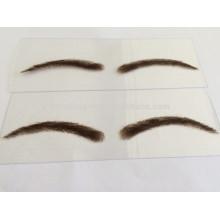 Sobrancelha artificial de cabelo humano de alta qualidade para revendedor