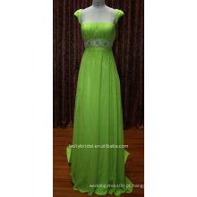 Verde com vestido de cocktail frisado vestido de festa de noite nadia