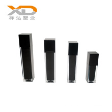 Black manufacturer wholesales custom made cosmetic plastic acrylic lotion bottle with spray pump for skin care