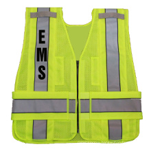 100%Polyester Knitting Fabric Safety Vest with Reflective Tape