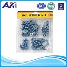 Matériel de ménage haute qualité (assortiment de 100PCS vis, écrous et rondelles)