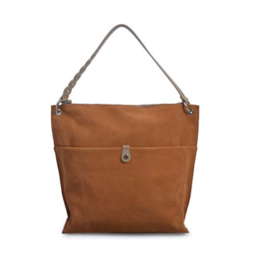 Borsa a secchiello DONNA KARAN Columbus in pelle color marrone chiaro