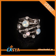 Newest Antique Silver Crystal Classic Ring Wholesale