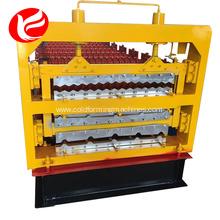 Three Layer type Roofing Sheet Trapezoid Tiles roll Forming Machine