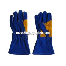 Guante de trabajo de soldadura de cuero dividido Premium - 6512