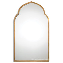 Antiqued Gold Metal Framed Wall Mirror for Home Decoration