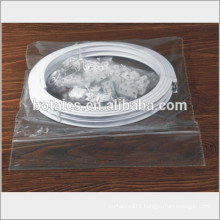 corner bath curtain rod,plastic show curtain and pvc flexible pipe