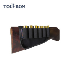 TOURBON outdoor hunting gun accessories buttstock neoprene 12 Gauge shotgun Ammo cartridge holder
