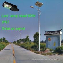Novo integrado 70W Solar Street Lights com Soalr painel PV