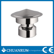 Stainless Double Wall Pipe Rain Cap for Pellet Stoves