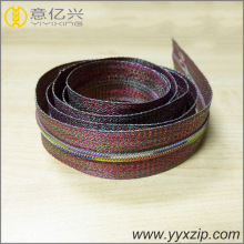 Rainbow nylon long chain zip à vendre