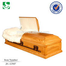 Chinese produced welcome American style wood casket with high quality
