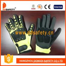 Fluorescencia / alta visibilidad Hppe Shell con negro ultrafino Nitrile-TPR323