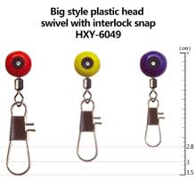 Atacado novo estilo plástico giratória de cabeça com interlock Snap