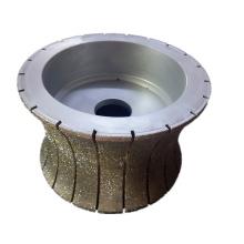 roue de profilage de bord en pierre diamantée électrolytique