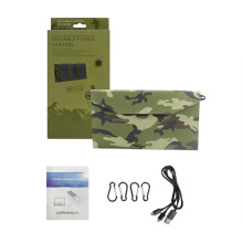Chargeur de camping solaire portable imperméable à 12 watts pour téléphone portable