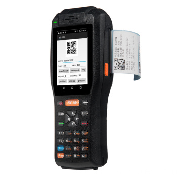 Pda pemindai barcode kolektor data portabel dengan printer