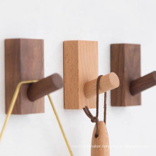 Square Wooden Wall Mounted Hook Coat Hooks Wall