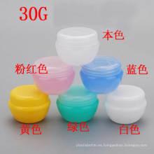 30g claro rosa verde azul blanco amarillo tornillo tapas PP plástico vacía cosméticos tarro jarra tarro