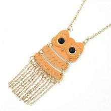 Fashion Owl Design Collier Macrame Collier en alliage FN100