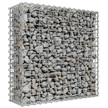 100/30/70cm galvanized galfan powder coating steel mesh cage yard landscaping gabion basket wall