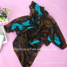 Полиэстер печать квадратные шарфы/ Индия шарф