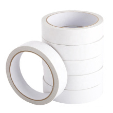 10mm Width High Temperature Resistance White Adhesive 80mic Double Sided Tissue Tape For Sealing