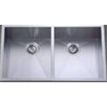 Handmade Stainless Steel Two Bowl Kitchen Sink (Khd3320)