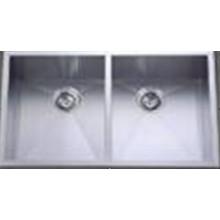 Ручная нержавеющая сталь Две миски для кухни (Khd3320)
