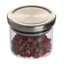 Wood Lids Heat Resistant Glass Store Jars